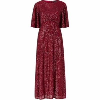 メラ ロンドン Mela London レディース ワンピース ミドル丈 ワンピース・ドレス Sequin Midi Dress Burgundy