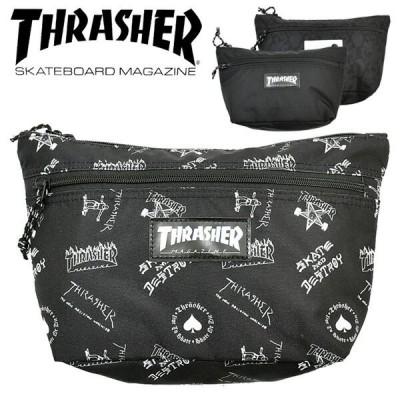 THRASHER スラッシャー ミニショルダーバッグ メッセンジャーバッグ 鞄 カバン かばん 斜め掛け メンズ 小さめ 小さい THR-107