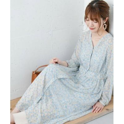 Sonny Label/サニーレーベル 小花柄シフォンワンピース BLUE FREE