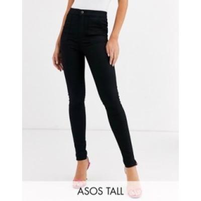 エイソス レディース カジュアルパンツ ボトムス ASOS DESIGN Tall ankle length stretch skinny pants in black Black