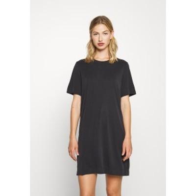 モンキ レディース ワンピース トップス ABBIE DRESS - Jersey dress - black dark black dark