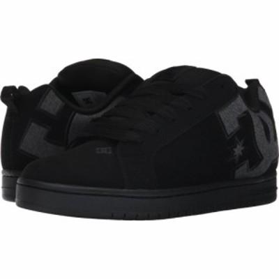 ディーシー DC メンズ スニーカー シューズ・靴 Court Graffik SE Black Destroy Wash