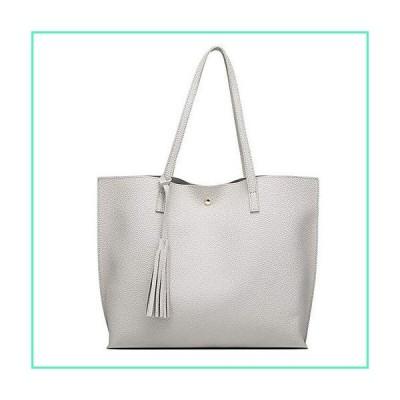 Women's Hobo Handbags Simple Casual Top Handle Tote Bag Crossbody Shoulder Bag Shopping Work Bag Gray並行輸入品
