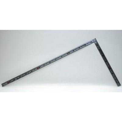 シンワ測定 曲尺同厚 シルバー 1尺5寸 表裏同目 名作 10643