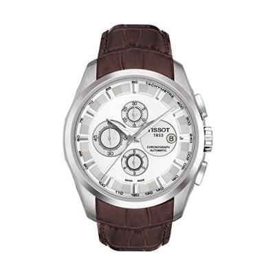 腕時計 ティソ メンズ T035.627.16.031.00 Tissot Couturier Automatic Chronograph Brown Leather Silver D