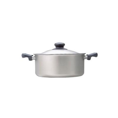 柳宗理 / 柳宗理 / 日本製 / 鍋 / ステンレス両手鍋 22cm ふた付 浅型