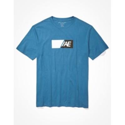 アメリカンイーグル メンズ Tシャツ トップス AE Active Graphic T-Shirt Blue