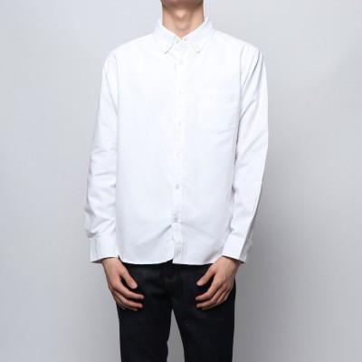 スタイルブロック STYLEBLOCK 長袖無地ボタンダウンシャツ (ホワイト)