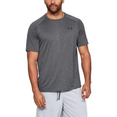アンダーアーマー メンズ Tシャツ トップス Under Armour Men's UA Tech 2.0 SS Tee Carbon Heather / Black