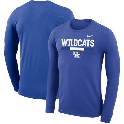 """ナイキ メンズ Tシャツ 長袖 ロンT """"Kentucky Wildcats"""" Nike Team DNA Legend Performance Long Sleeve T-Shirt - Royal"""