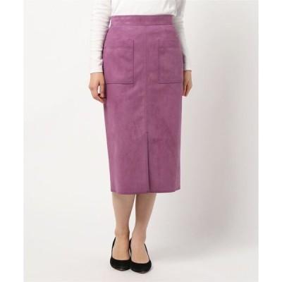 スカート スエードタイトスカート