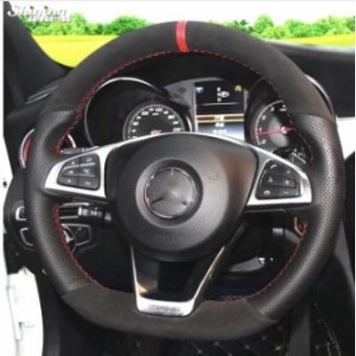 【税込】 メルセデスベンツ ステアリング ハンドルカバー Mercedes-Benz C200 C250 C300 Sport CLA220 B250 B260 A200 A250
