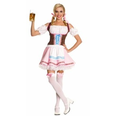 ピンクメイド服 小さいエプロン付 ドレス コスプレ ハロウィン メイド コスチューム
