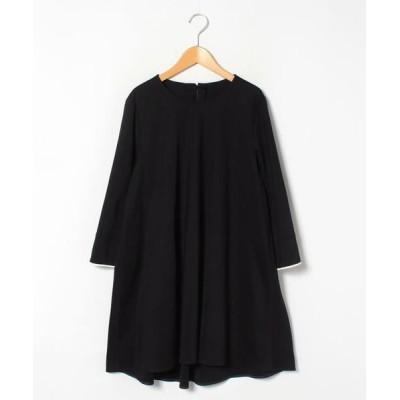 Leilian PLUS HOUSE/レリアンプラスハウス 袖口配色カットソー ブラック9 13+