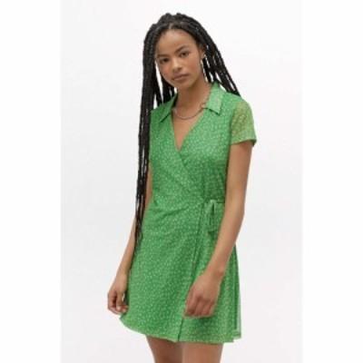 アーバンアウトフィッターズ Urban Outfitters レディース ワンピース ラップドレス ミニ丈 ワンピース・ドレス uo modern collar wrap m