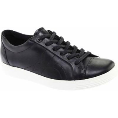 エコー レディース スニーカー シューズ Women's ECCO Soft 7 Stitch Tie Sneaker Black Leather