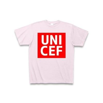 【ユニクロ風】UNICEF(ユニセフ) Tシャツ Pure Color Print(ピーチ)