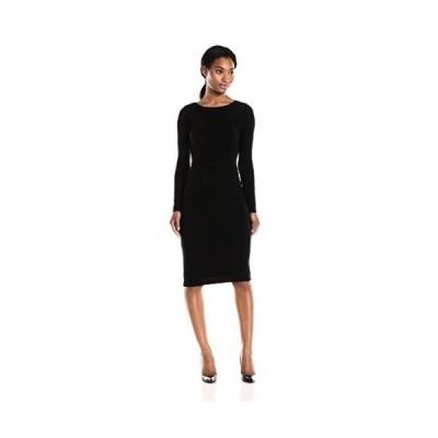 ドレス アンクライン Anne Klein レディース ドレス・ワンピース 10590502 長袖 Rouched Side. Black