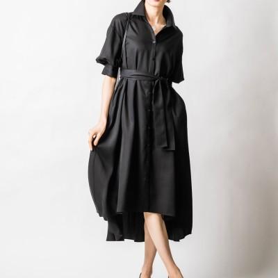 ヴィリーナ VIRINA カトリーナシャツドレス (ピアノブラック)