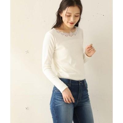 tシャツ Tシャツ 刺繍レースプルオーバー