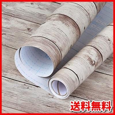 Livole アンティーク 壁紙 シール 木目 シート 45cm*10m はがせる壁紙 のり付き 防水/耐熱/防カビ/防汚 壁紙 補修 リ