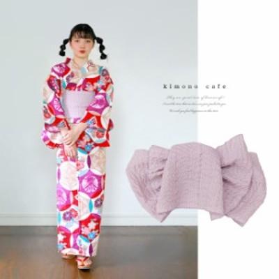 浴衣 セット 2点セット レトロ丸紋 パープル 麻 兵児帯 浴衣セット kimonocafe フリーサイズ Sサイズ ワイドサイズ TLサイズ