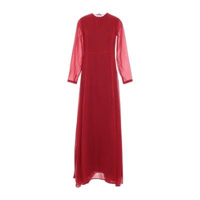 8PM ロングワンピース&ドレス レッド S レーヨン 100% ロングワンピース&ドレス