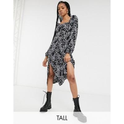 ミスガイデッド レディース ワンピース トップス Missguided Tall milkmaid midi dress in floral print