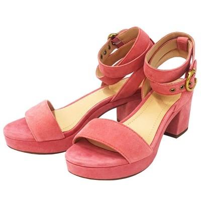コーチ COACH サンダル 靴 シューズ レディース スエード ピンク サイズ6