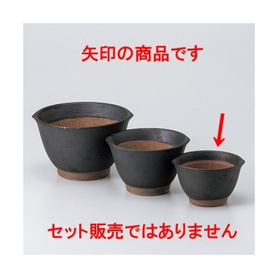 スリ鉢 和食器 / 黒マット麦とろ鉢(小) 寸法:11.3 x 10.3 x 6.8cm