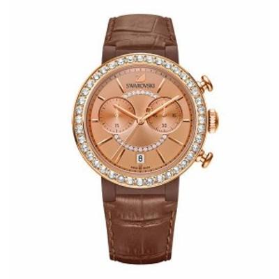 スワロフスキー シトラ スプヒアー クロノ ウォッチブラウン 腕時計 5183367 Swarovski Citra Sphere Chrono Watch Brown □