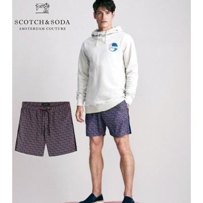【SALE/50%OFF】送料無料 SCOTCH&SODA/スコッチ&ソーダ Mid-length Swim Short With Multicoloured Print 292-18610 【154487】 定価:¥12,000