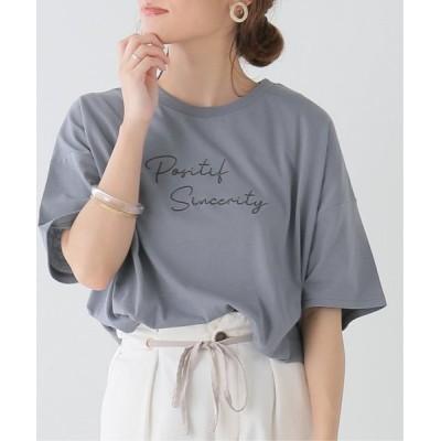 Ray Cassin / 刺繍Tシャツ WOMEN トップス > Tシャツ/カットソー