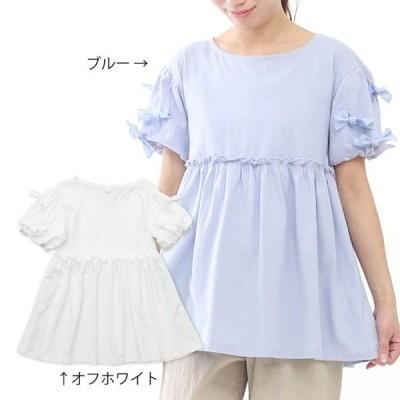 dolcina (ドルチーナ ) リボン半袖プルオーバー (フリ−)  女の子 キムラタン 子供服 送料無料