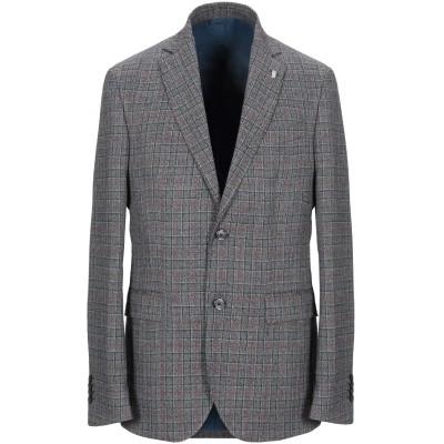 BARBATI テーラードジャケット スチールグレー 46 ポリエステル 63% / レーヨン 34% / ポリウレタン 3% テーラードジャケット