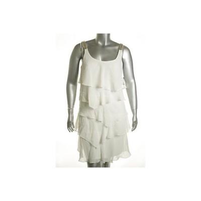 ROBBIE BEE ドレス ワンピース フォーマル ROBBIE BEE レディース ドレス ティアード 12 ホワイト Lace Trim ウイズ Deffect Regular LAFO