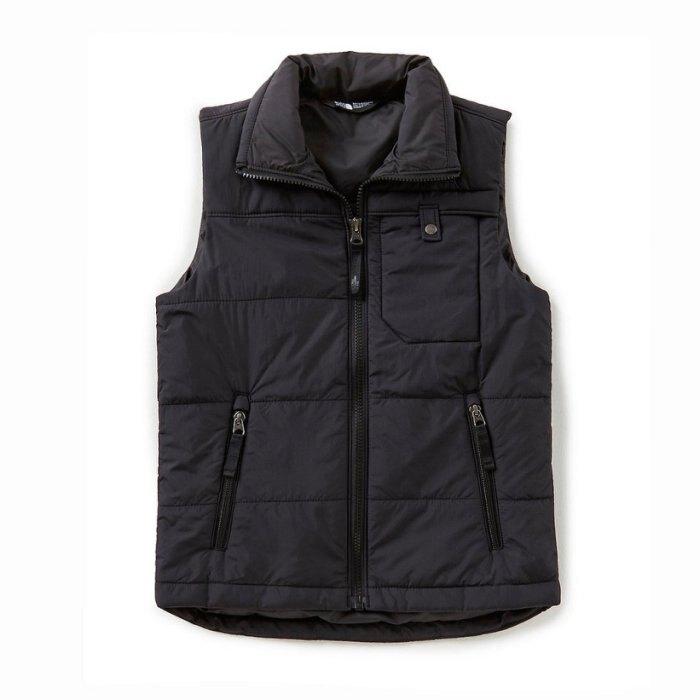 美國百分百【全新真品】The North Face 背心 TNF 鋪棉 北臉 保暖 口袋 上衣 黑色 S號 青年 I709
