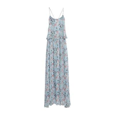 EMMA & GAIA ロングワンピース&ドレス スカイブルー 44 レーヨン 100% ロングワンピース&ドレス