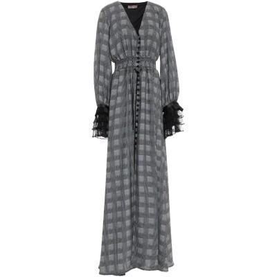 BLACK CORAL ロングワンピース&ドレス ブラック 38 ポリエステル 100% ロングワンピース&ドレス