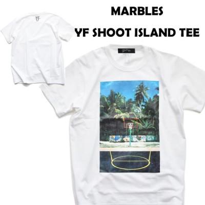 MARBLES マーブルズ YF SHOOT ISLAND TEE Tシャツ ホワイト
