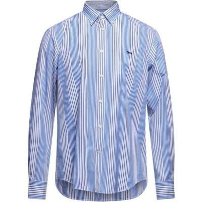 ハーモント アンド ブレイン HARMONT&BLAINE メンズ シャツ トップス Striped Shirt Blue