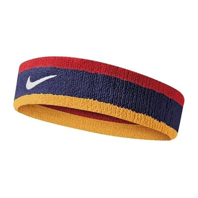 Nike 頭帶 Swoosh Headband 男女款 運動 路跑 健身 防止頭髮干擾 吸汗 紅 藍 黃 N0001544428OS