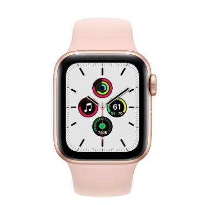 Apple Watch SE(GPSモデル)- 40mmゴールドアルミニウムケースとピンクサンドスポーツバンド [整備済製品] - FYDN2J/A