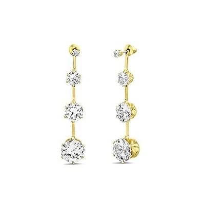 Badgley Mischka Rhinestone Yellow Stick Drop Earrings for Women 好評販売中