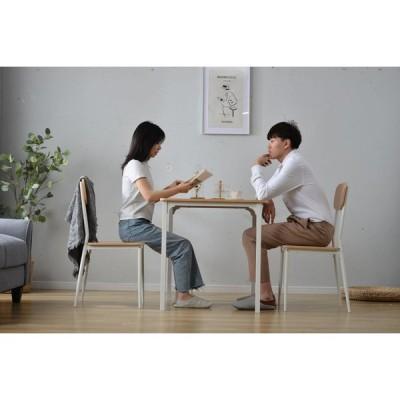 【タイムセール】ダイニングセット ダイニングテーブルセット 2人掛け ダイニングテーブル シンプル 北欧 木製 スチール 一年安心保証
