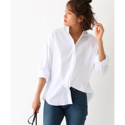 aquagirl アクアガール ストレッチブロード オーバーサイズシャツ