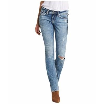 シルバージーンズ レディース デニムパンツ ボトムス Suki Mid-Rise Curvy Fit Slim Bootcut Jeans L93616SSX289 Indigo