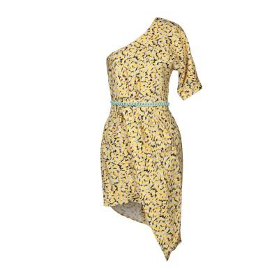 ELISABETTA FRANCHI ミニワンピース&ドレス イエロー 42 レーヨン 96% / ポリウレタン 4% ミニワンピース&ドレス