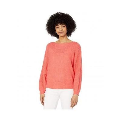 Cupcakes and Cashmere レディース 女性用 ファッション セーター Sonrisa Rib Knit Dolman Sweater - Hot Coral