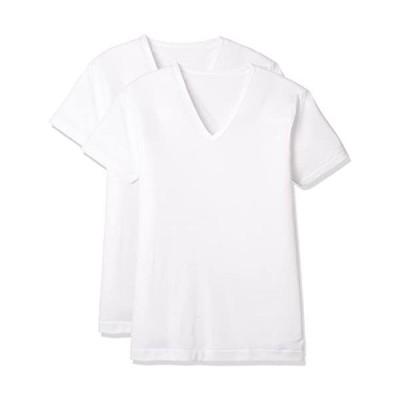 グンゼ-インナーシャツ-吸汗速乾冷感フライス-Vネック半袖-ホワイト